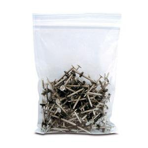 "Plastic Storage Bag 8"" x 8"" Clear Zip Lock Pack of 100 8x8"