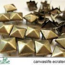 100Pcs 6mm Antique Bronze Pyramid STUDS for Craft Punk Look