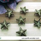 100Pcs 5mm Antique Bronze star STUDS