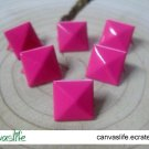 100Pcs 9mm Pink Pyramid Rivet STUDS