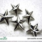 100Pcs 15mm Silver Star Rivet STUDS