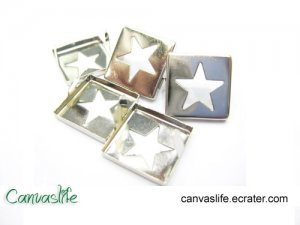 100Pcs Silver Star Rivet STUDS