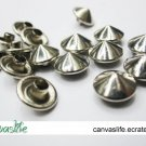 50pcs 10mm Silver Cone Rivet Studs