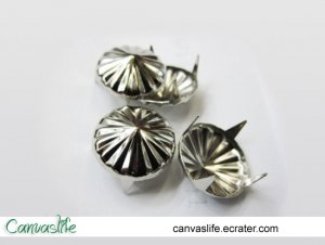 50pcs 20mm Silver Cone Rivet Studs
