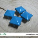 100Pcs 9mm Blue Pyramid Rivet STUDS