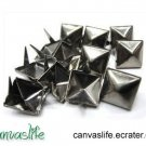 100Pcs 9mm Gunmetal Pyramid Rivet STUDS