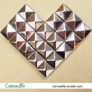100Pcs 10mm Silver Color Pyramid Rivet STUDS