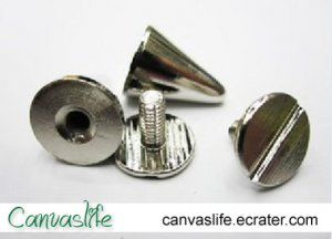 10mm Cone Screwback Spikes Stud 10sets High Quality Solid Brass