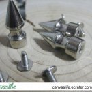 10pcs 10mm Screwback Silver Color Spikes Stud