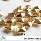100pcs 15mm Golden Color Pyramid Rivet STUDS