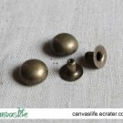 100pcs 10mm Antique Bronze Round Rivet Stud
