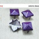 100Pcs 9mm Purple Pyramid Rivet STUDS