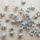 100pcs 5mm Silver Star Rivet Stud