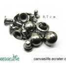 100pcs 7mm Gunmetal Round Rivet Stud
