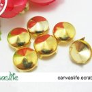 100pcs 6MM Golden Color Round STUDS
