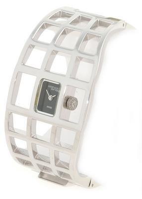Anne Klein New York Women's Swiss Silvertone Cuff Bangle Watch