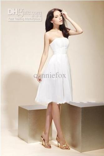 Jenny A-line Strapless Knee-length Satin Gossip Girl Fashion/ Cocktail/ Bridesmaid Dress