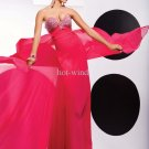 2011 New arrival Hot sale Fuchsia Prom Dresses Sheath Chiffon Prom Dresses