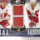 2009-10 SP Game Used Authentic Fabrics Dual #AF2LZ  Lidstrom/Zetterberg