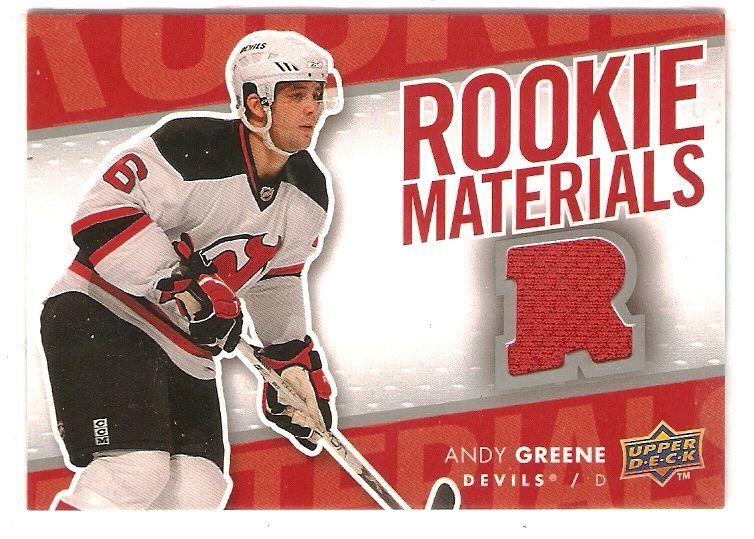 2007-08 Upper Deck Rookie Materials #RMAG Andy Greene