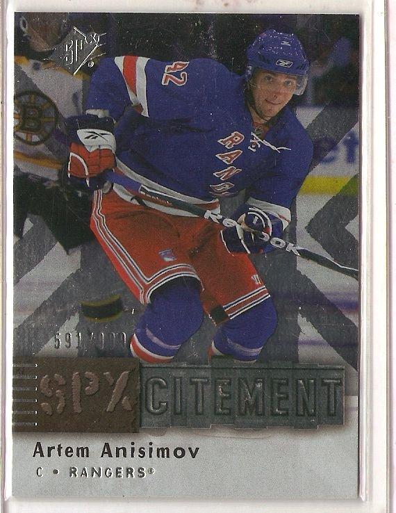 2009-10 SPx SPXcitement #X62 Artem Anisimov
