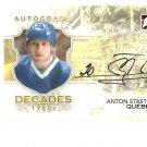 2010-11 ITG Decades 1980s Autographs #AAS Anton Stastny