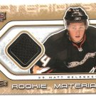 2009-10 Upper Deck Rookie Materials #RMBE Matt Beleskey
