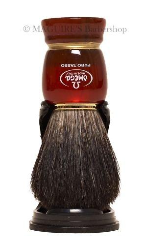 OMEGA #63185 100% PURE BADGER HAIR SHAVING BRUSH