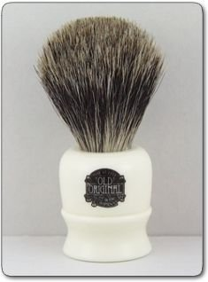 #2190 VULFIX LATHE HANDLE, PURE BADGER SHAVING BRUSH