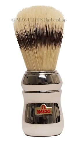OMEGA #20248 100% PURE BRISTLE SHAVING BRUSH