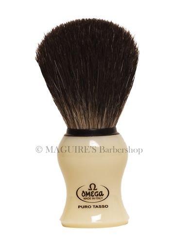 OMEGA #13109 100% PURE BADGER HAIR SHAVING BRUSH