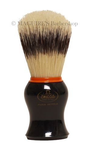OMEGA #11574 100% PURE BRISTLE SHAVING BRUSH