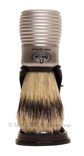OMEGA #81230 100% PURE BRISTLE SHAVING BRUSH
