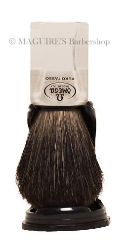 OMEGA #63164 100% PURE BADGER HAIR SHAVING BRUSH