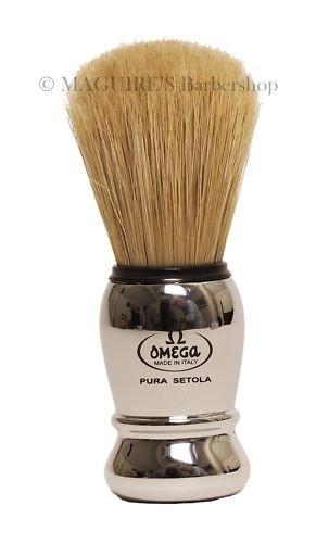 OMEGA #10029 100% PURE BRISTLE SHAVING BRUSH
