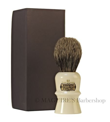 BEAUFORT B3 - SIMPSONS - PURE BADGER SHAVING BRUSH