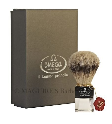 OMEGA #632 PURE SILVERTIP BADGER HAIR SHAVING BRUSH
