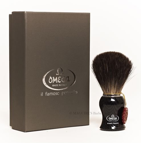 OMEGA #6650 100% PURE BADGER HAIR SHAVING BRUSH