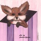Fox in a Box (4x6 print)