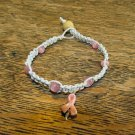 Breast Cancer Awareness Bracelet, White