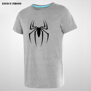 Buy Spiderman Spider Logo Print American Anime Style Mens Grey Print T Shirt Men Streetwear Man Tsh