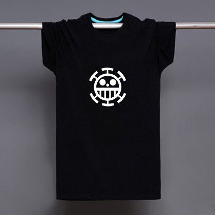 Buy Japanese Anime Onepiece Pirate Of Heart Logo Print T shirt Men Black Superhero Fashion T Shirt