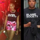 Buy KR 100 Cotton Short Sleeve T Shirt Men Clothing Jay Z Blame Society Print T shirt Man Tee Shirt