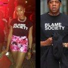 Buy KR 100 Cotton Short Sleeve T Shirt Men Clothing Jay Z Blame Society Print T shirt Man Tee Shirt