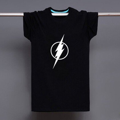 Buy Mens Black US Anime The Flash Logo Letter Print 100 Cotton T shirt Men Tshirt Man Soft Printed