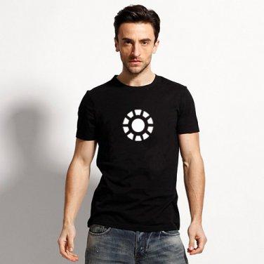 Buy Robert Downey Jr Iron Man Logo Mens Black Print T shirt Men Streetwear Man Tshirt Comics Cartoo