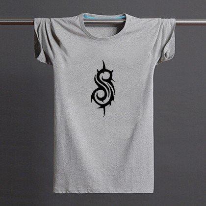 Buy Slipknot Logo Print American and European Style Mens Grey Print T Shirt Men Streetwear Man Tshi
