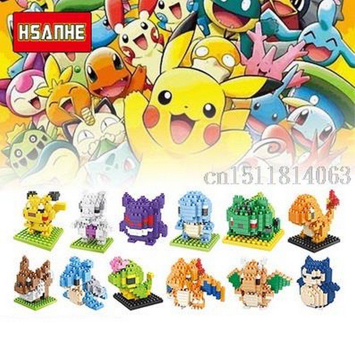 Buy 12Pcslot Pokemon Figures Model Toys Pikachu Firedragon Charmander Bulbasaur Squirtle Eevee Anim
