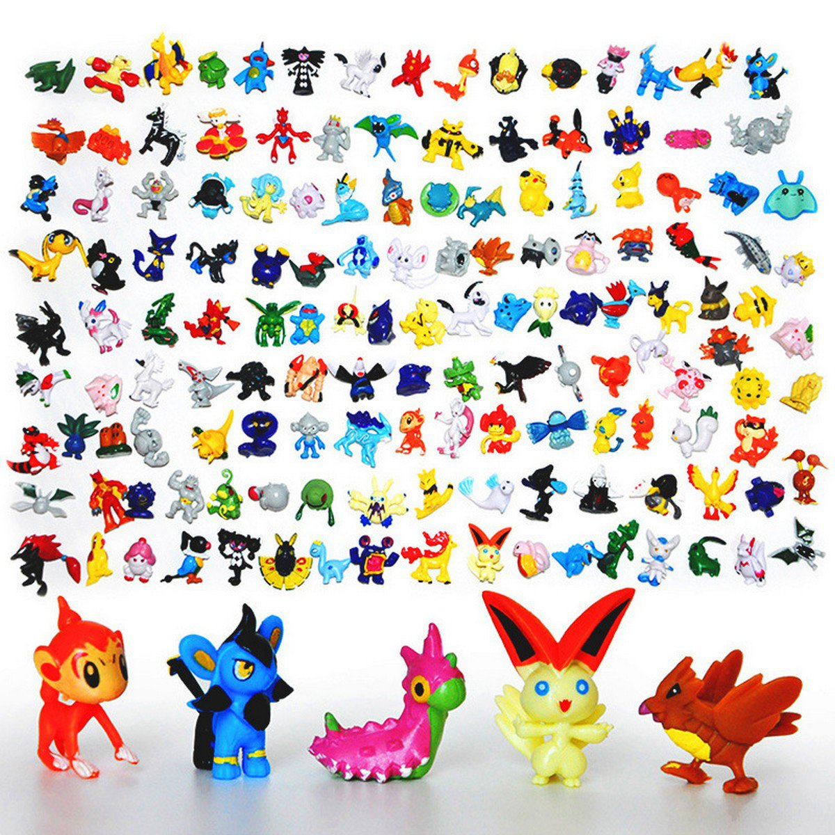 Buy 144PCSLot 2 3CM Pokemon Figure Toys different Styles New Cute Cartoon Monster model Pikachu Sup