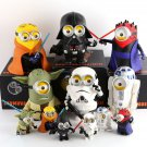Buy 20cm Big Size! Minions Cosplay Star Wars Darth Vader Darth Maul Luke Yoda PVC Soft Material Dec